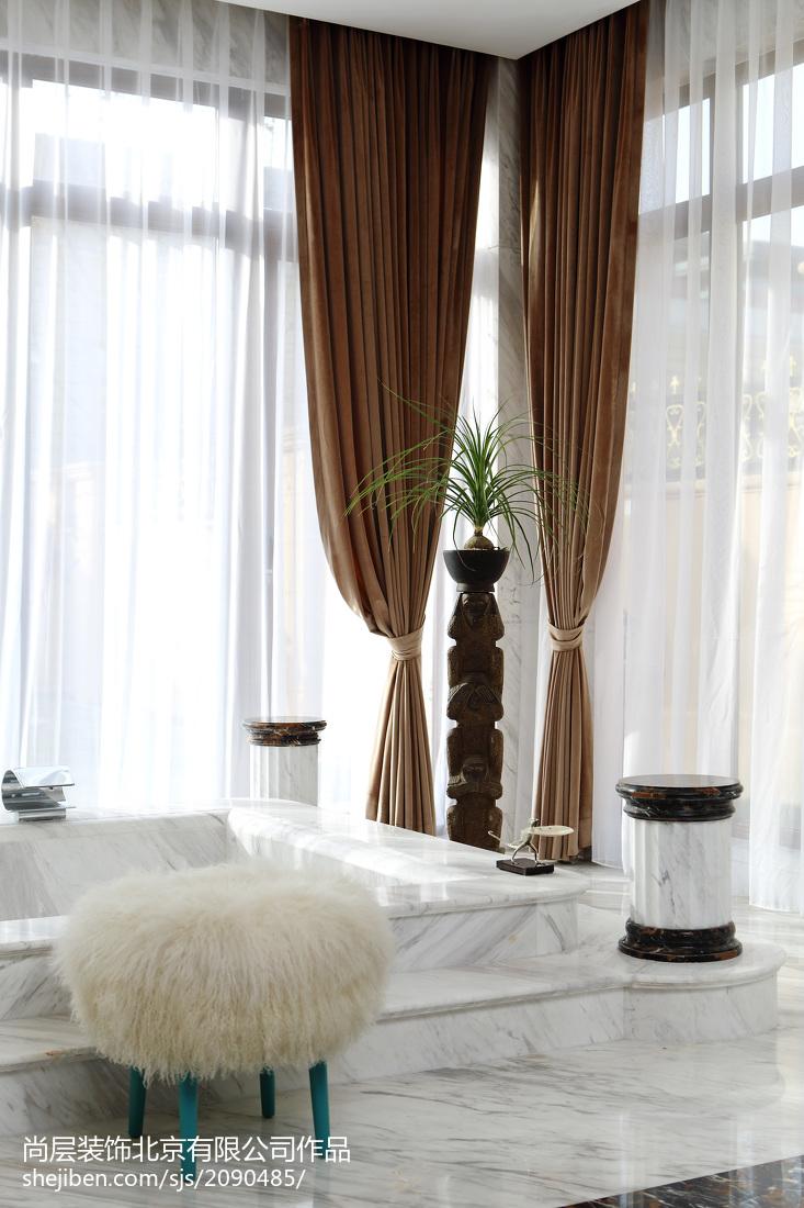 精美面积134平别墅卫生间欧式装修图卫生间窗帘欧式豪华卫生间设计图片赏析