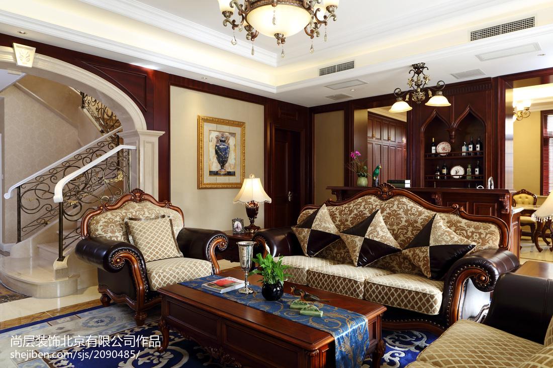 精美面积126平别墅休闲区欧式装修图功能区沙发欧式豪华功能区设计图片赏析
