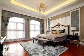 面积121平别墅卧室欧式装饰图别墅豪宅欧式豪华家装装修案例效果图