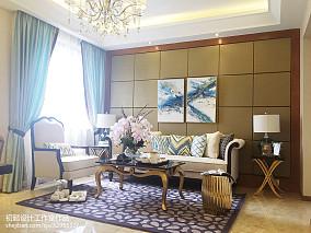 80.8平精美客厅混搭装修设计效果图