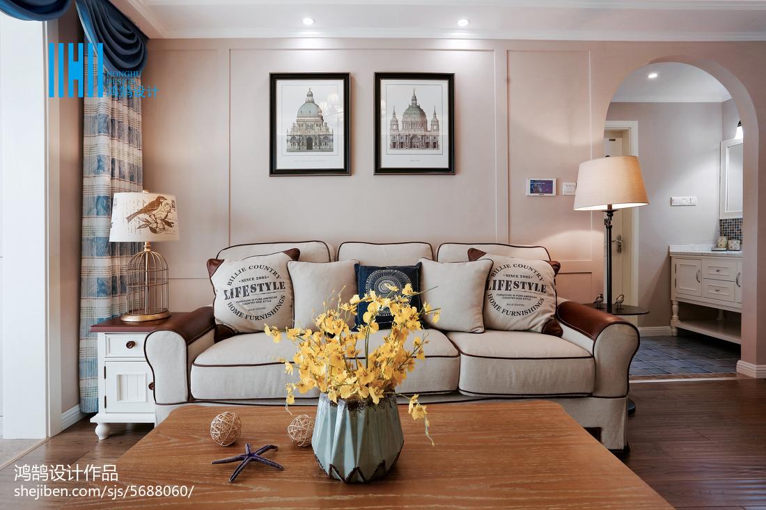 2018美式二居客厅实景图片欣赏客厅美式经典客厅设计图片赏析