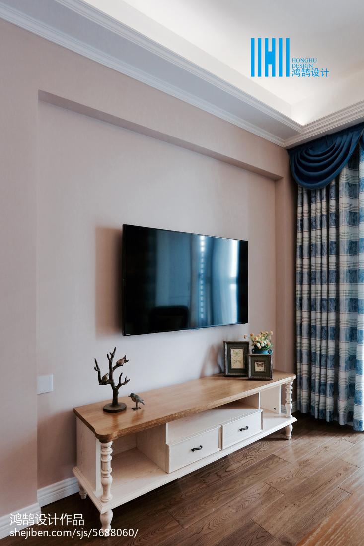 2018精选大小71平美式二居客厅装修设计效果图客厅美式经典客厅设计图片赏析