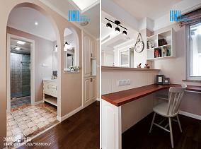 精选86平米二居书房美式装修图片大全二居美式经典家装装修案例效果图