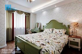 精美面积72平美式二居卧室实景图片欣赏二居美式经典家装装修案例效果图