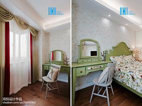 精美81平米二居卧室美式装修实景图片大全