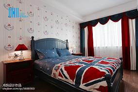 精美美式二居儿童房装修图片大全二居美式经典家装装修案例效果图