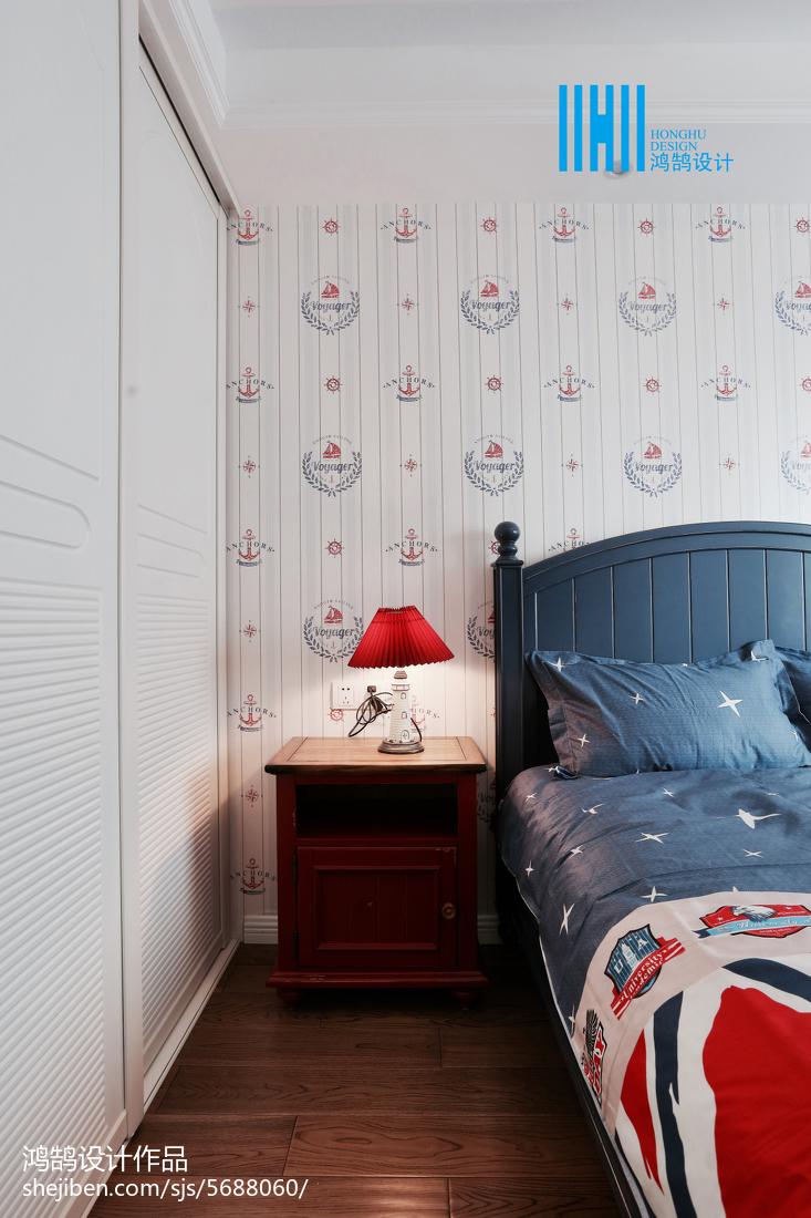 精选面积85平美式二居儿童房实景图片欣赏卧室美式经典卧室设计图片赏析