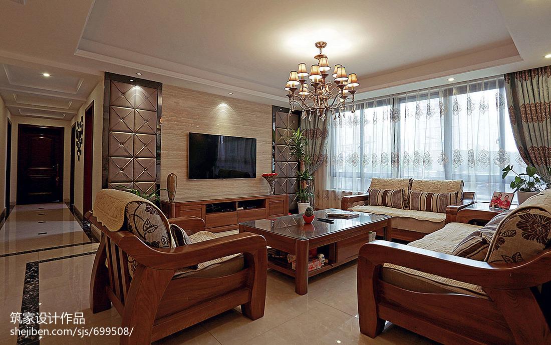92平方三居客厅混搭装修效果图片大全客厅
