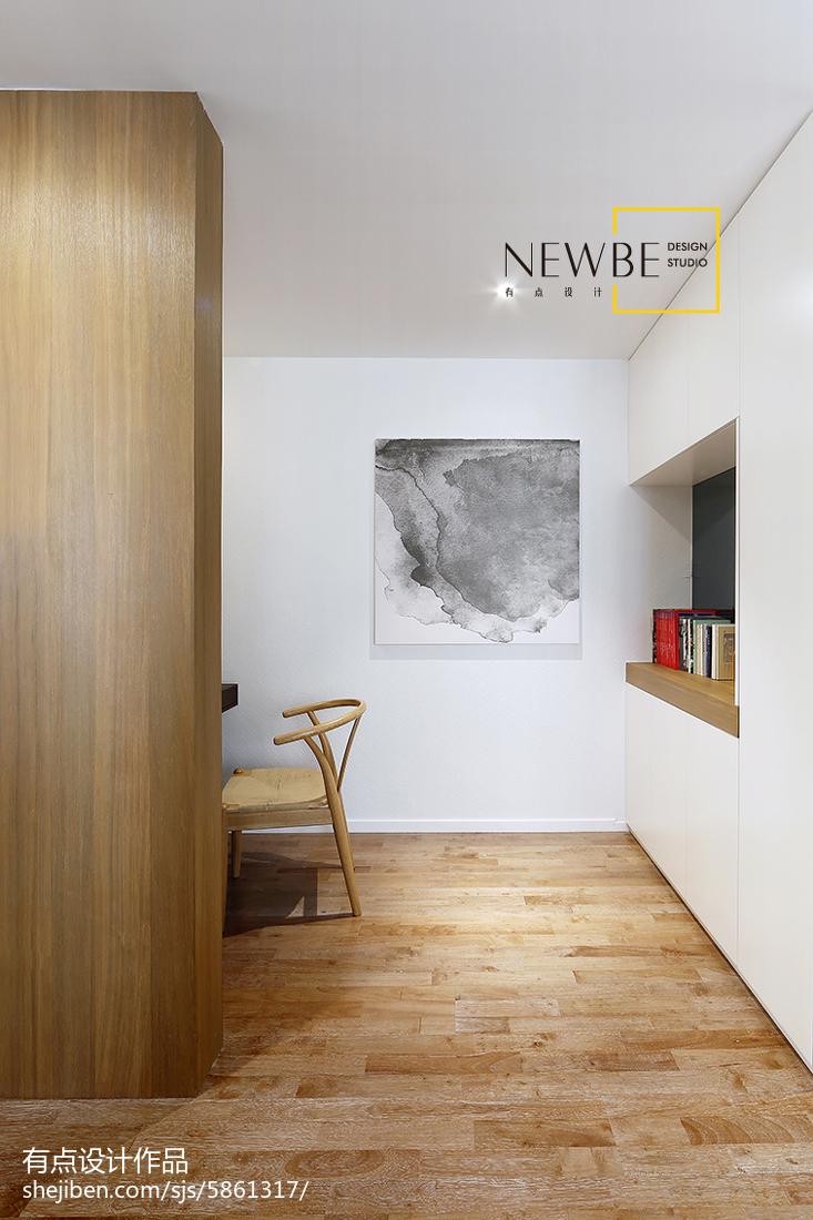 平米二居书房简约装修实景图功能区现代简约功能区设计图片赏析