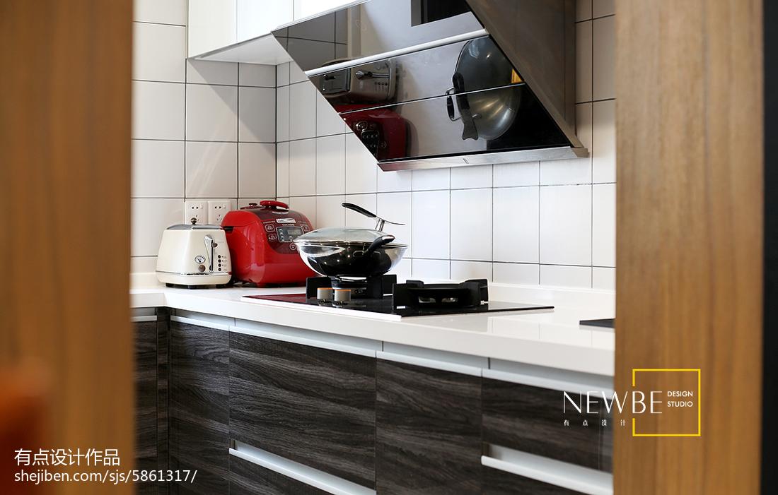 质朴67平简约二居厨房装修效果图餐厅现代简约厨房设计图片赏析