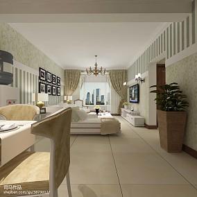 时尚潮流现代化二居室装修效果图