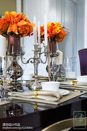 精选别墅餐厅新古典装修设计效果图片欣赏