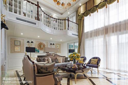 精美新古典别墅客厅装修图片欣赏客厅窗帘201-500m²家装装修案例效果图