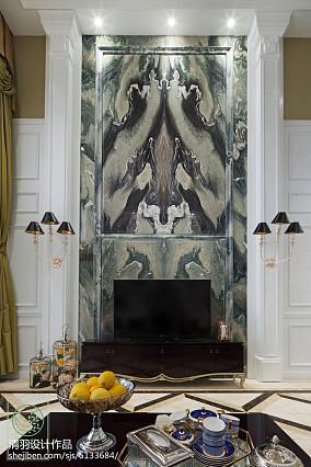 面积142平别墅客厅新古典装饰图片