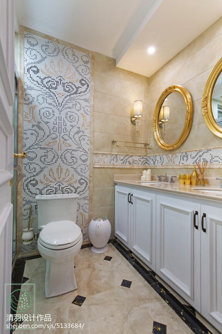 精选面积117平别墅卫生间新古典装修设计效果图卫生间马桶美式经典卫生间设计图片赏析
