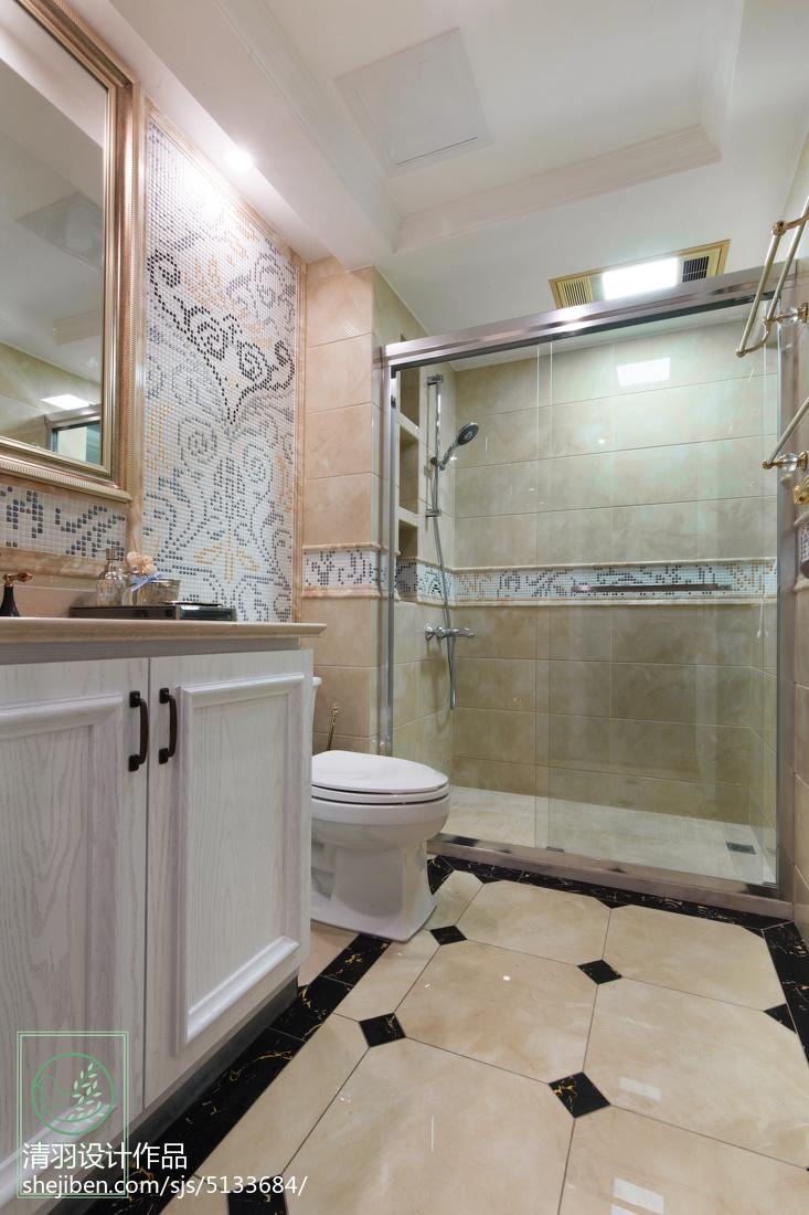 大气613平新古典别墅效果图片大全卫生间美式经典卫生间设计图片赏析