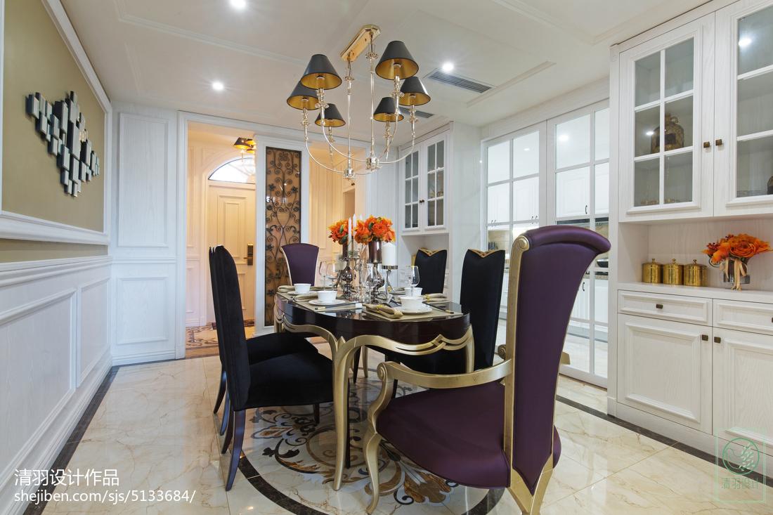 精美面积121平别墅餐厅新古典装修设计效果图片大全厨房美式经典餐厅设计图片赏析