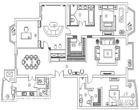 精致373平中式别墅设计案例别墅豪宅中式现代家装装修案例效果图