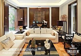 大气302平中式别墅客厅美图别墅豪宅中式现代家装装修案例效果图