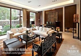 面积119平别墅客厅中式装修实景图片欣赏别墅豪宅中式现代家装装修案例效果图