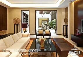 热门面积111平别墅客厅中式装饰图片别墅豪宅中式现代家装装修案例效果图