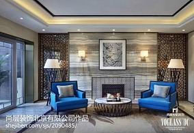 热门别墅休闲区中式欣赏图片别墅豪宅中式现代家装装修案例效果图