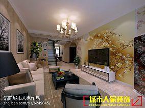 精选面积122平复式客厅简约装修设计效果图