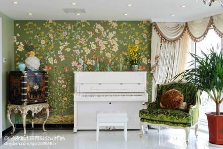 精美面积130平别墅休闲区美式效果图片