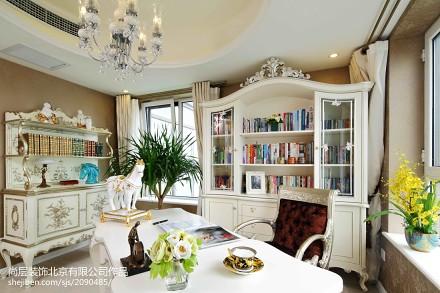 精美140平方美式别墅书房装修效果图片