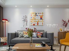 精选面积73平简约二居客厅装修效果图片