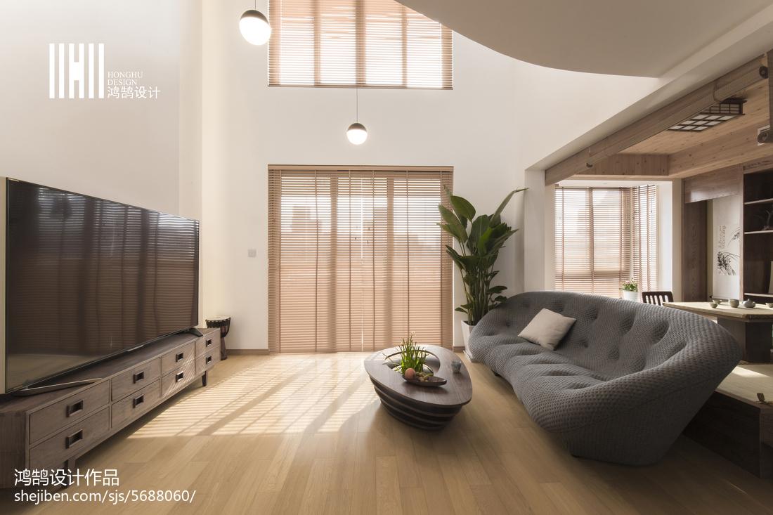 精美复式客厅日式装修效果图片客厅日式客厅设计图片赏析