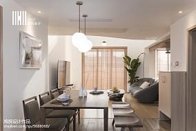 2018精选日式复式餐厅装修设计效果图片大全复式日式家装装修案例效果图