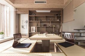 温馨58平日式复式休闲区设计效果图复式日式家装装修案例效果图