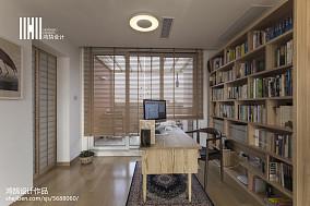 热门面积135平复式书房日式效果图片欣赏复式日式家装装修案例效果图