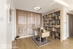 2018日式复式书房实景图片复式日式家装装修案例效果图