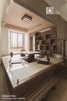 温馨72平日式复式休闲区效果图复式日式家装装修案例效果图