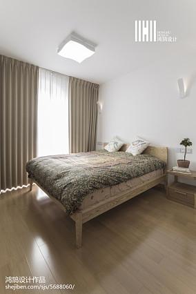 精美122平米日式复式卧室实景图片复式日式家装装修案例效果图