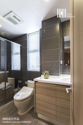 热门131平米日式复式卫生间实景图片复式日式家装装修案例效果图