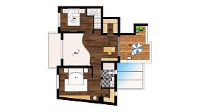 精美56平日式复式装饰美图复式日式家装装修案例效果图