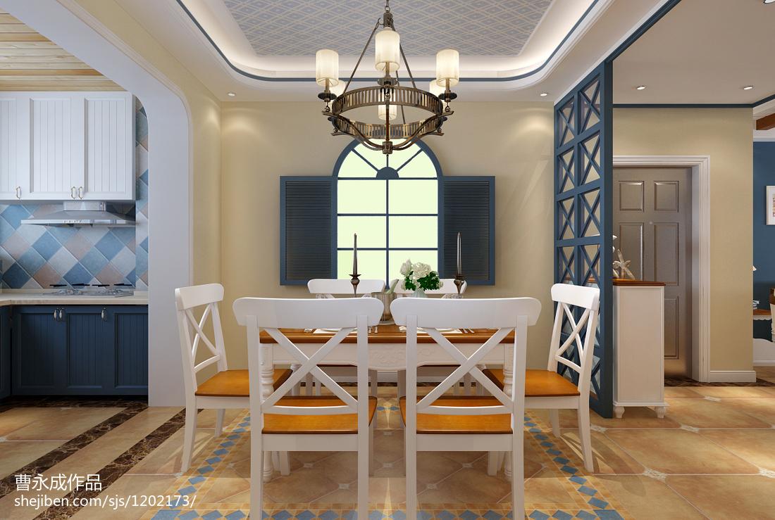 质朴99平地中海三居餐厅装修效果图功能区其他功能区设计图片赏析