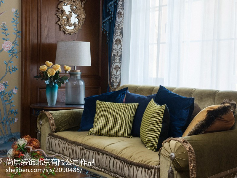 典雅792平混搭别墅客厅装修美图功能区