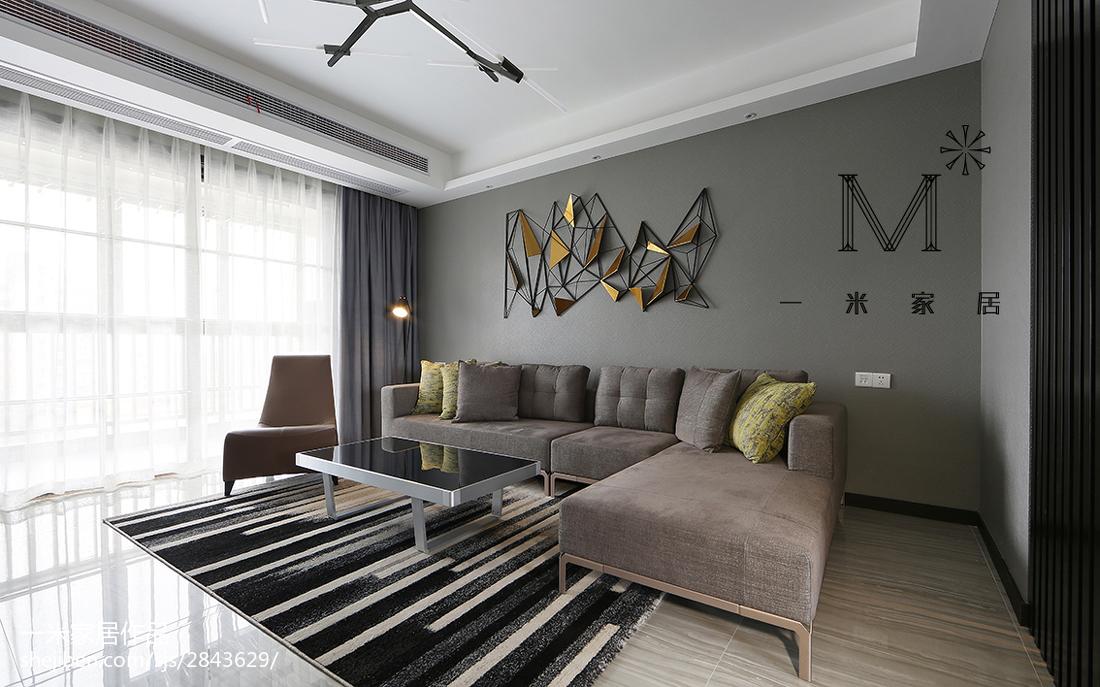 现代简约沙发背景墙装修图客厅现代简约客厅设计图片赏析