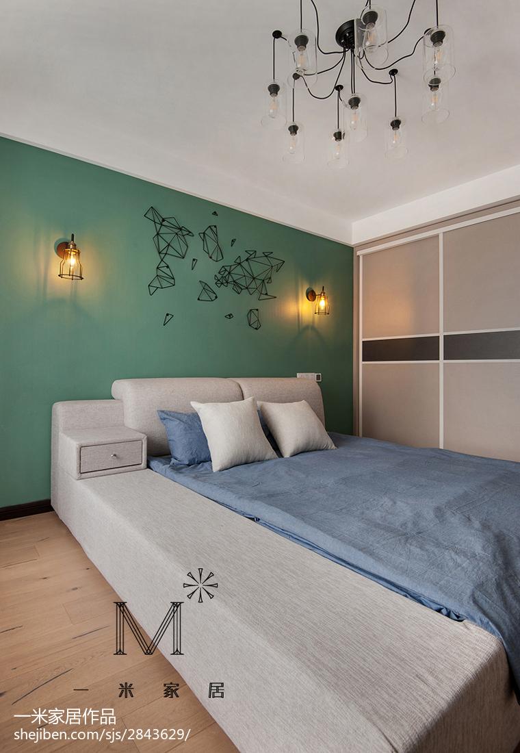 家装现代卧室背景墙装修图客厅衣柜现代简约客厅设计图片赏析