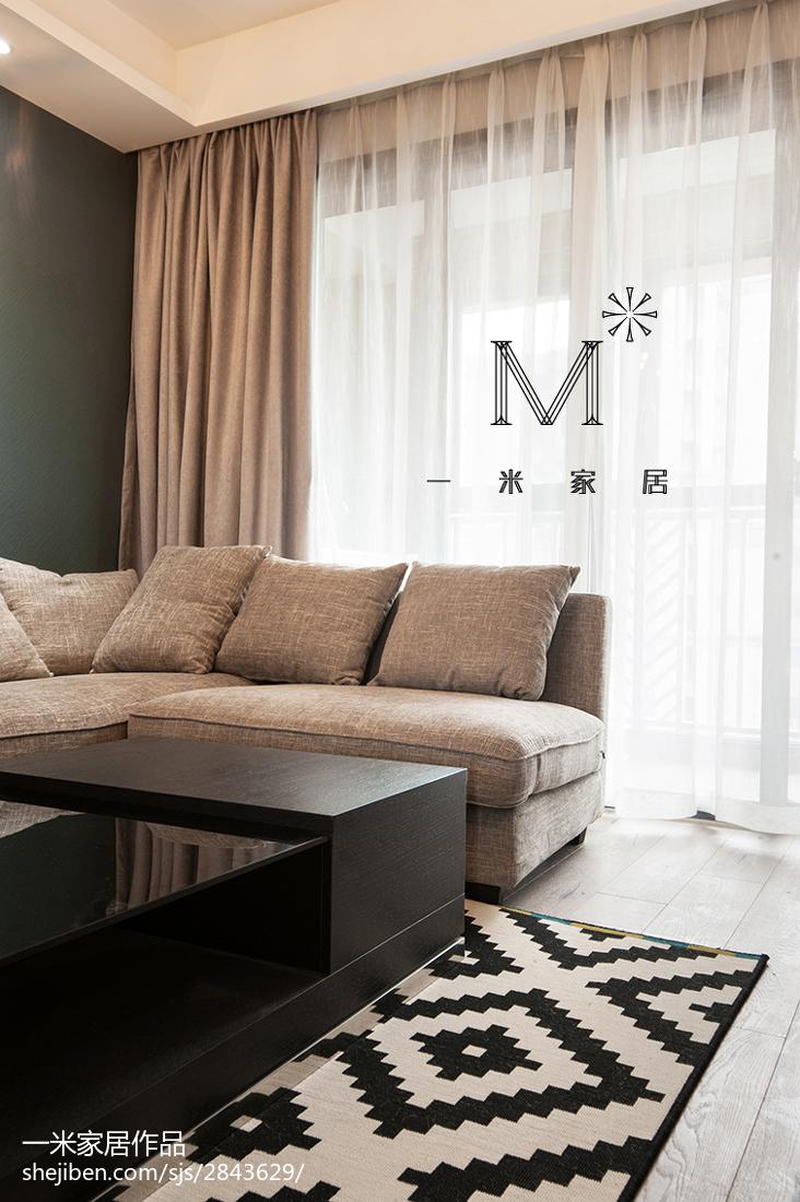 103平米三居客厅现代装修欣赏图客厅床现代简约客厅设计图片赏析