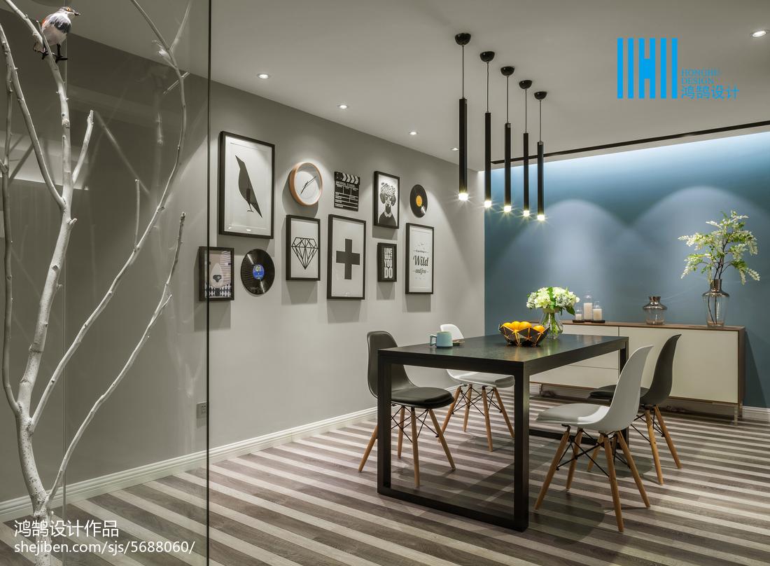热门面积85平简约二居餐厅装修设计效果图片厨房现代简约餐厅设计图片赏析