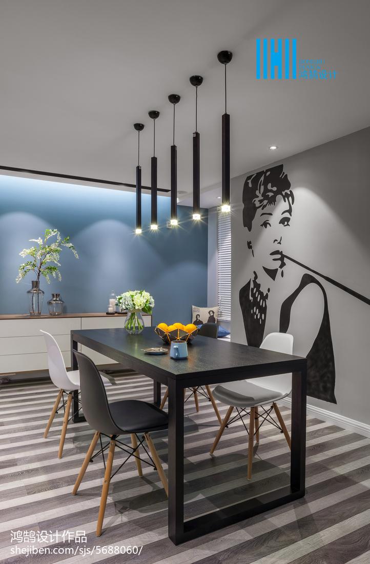 精选二居餐厅简约装修效果图片欣赏厨房现代简约餐厅设计图片赏析