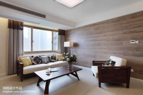 热门面积102平简约三居客厅装修设计效果图片三居现代简约家装装修案例效果图