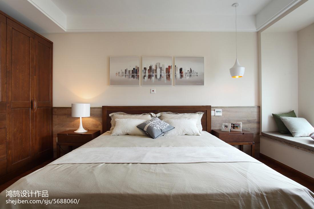 精选94平方三居卧室简约装修欣赏图片大全卧室现代简约卧室设计图片赏析