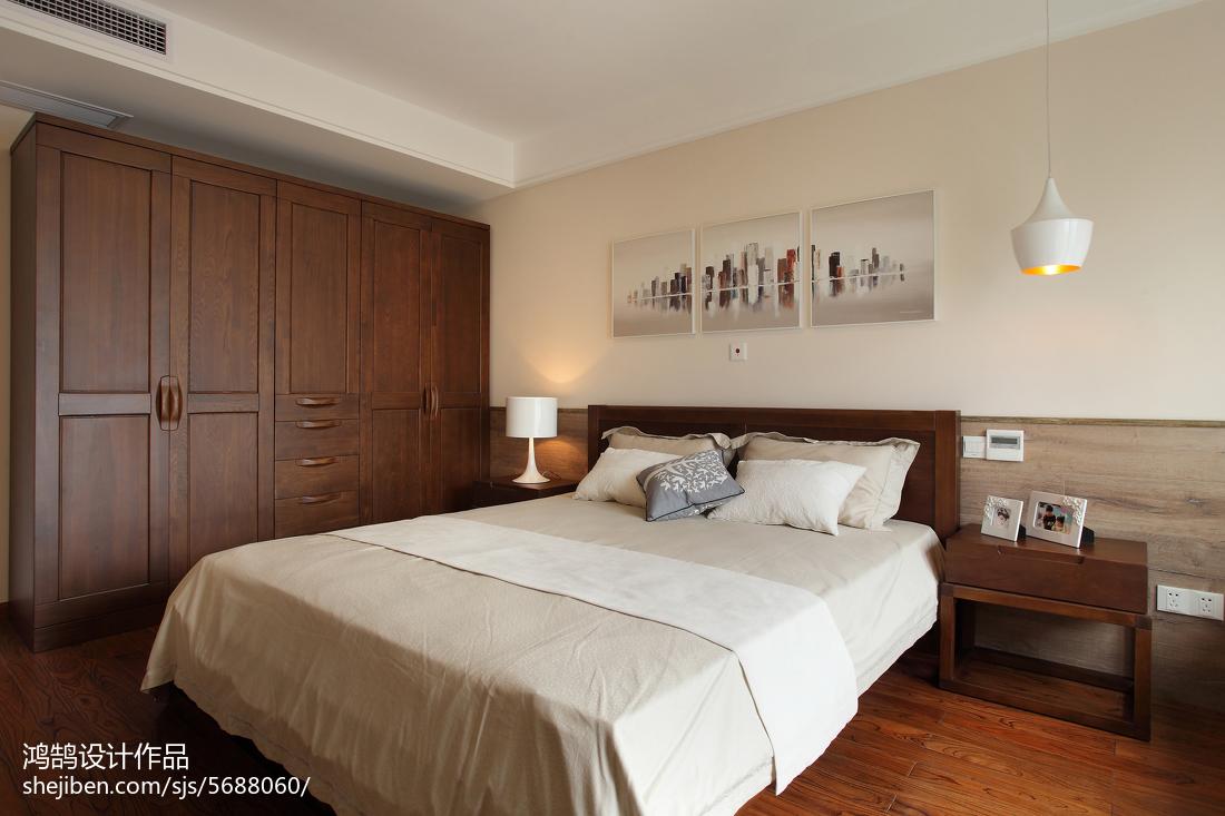 面积93平简约三居卧室实景图卧室1图现代简约卧室设计图片赏析