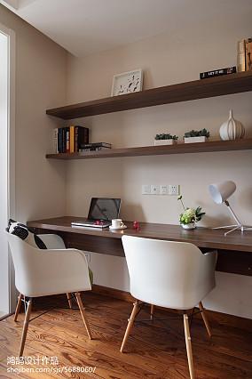 现代简约装修书房设计三居现代简约家装装修案例效果图